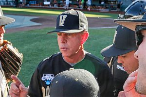 Tim Corbin will try to keep Vandy focused on the task at hand.