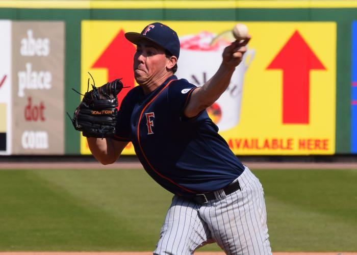 Cal State Fullerton lefthander John Gavin (Photo by Aaron Fitt)