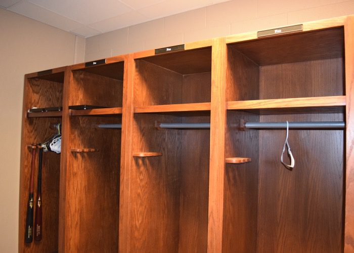 Plenty Of Former Rebels Come Back To Work Out In The Offseason And Ole Miss Keeps This Locker Room For Its Alumni Use