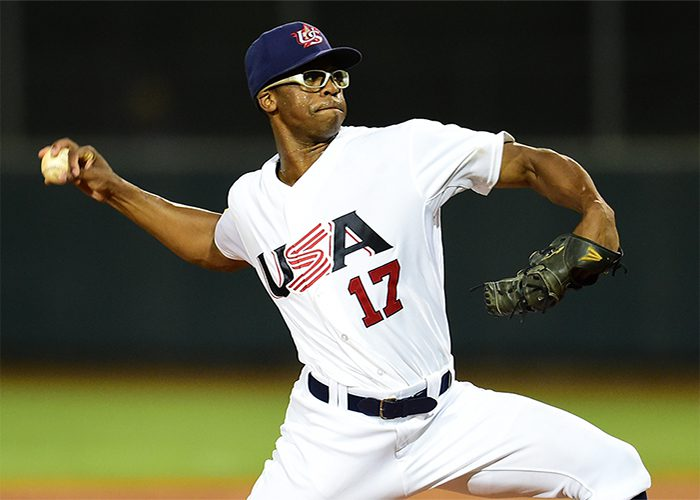 Dillon Tate rose the charts as a reliever for the USA National Team. (USA Baseball)