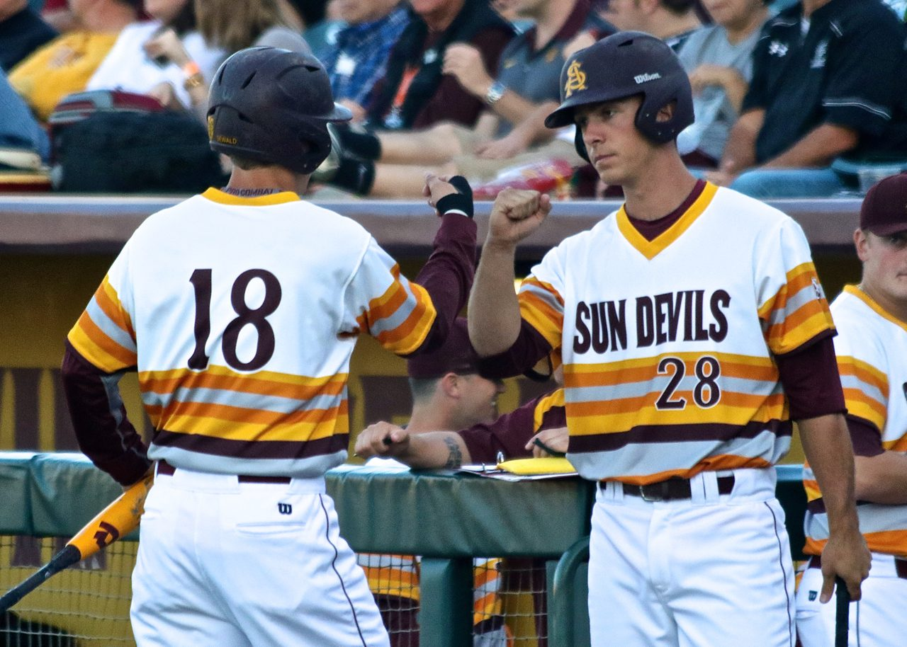 Arizona State first baseman David Greer (Shotgun Spratling)