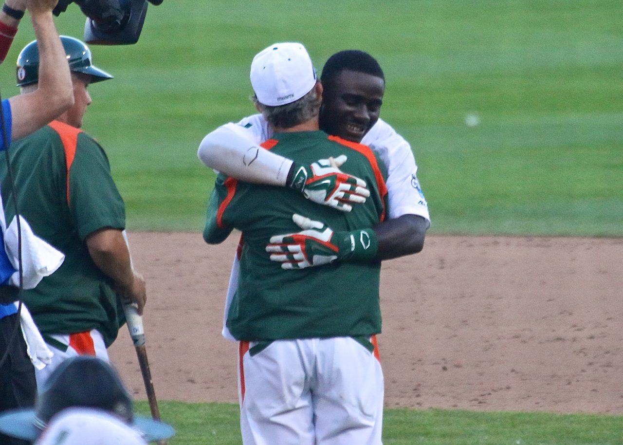 College World Series: Arkansas-Miami - Jacob Heyward, Jim Morris