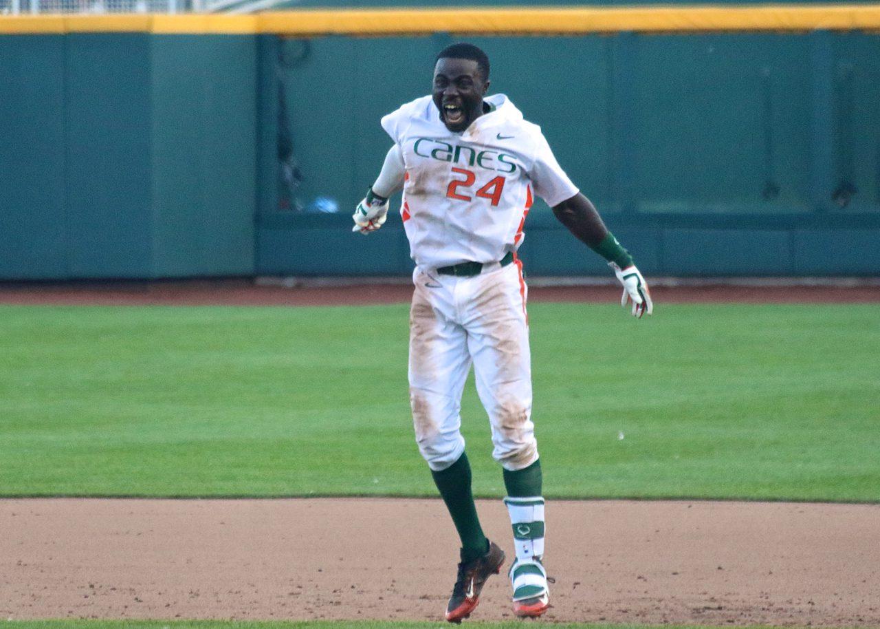 College World Series: Arkansas-Miami - Jacob Heyward