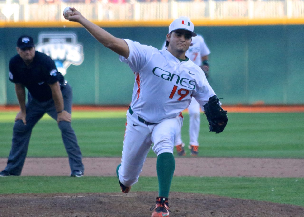College World Series: Arkansas-Miami - Bryan Garcia