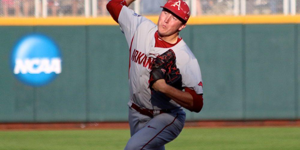 College World Series: Arkansas-Miami - Zach Jackson