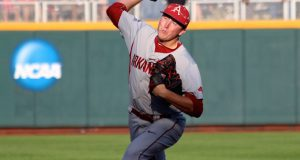 College World Series: Arkansas-Miami - Zach Jackson