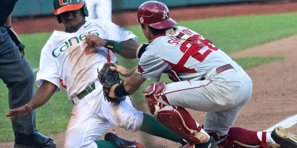 College World Series: Arkansas-Miami - Ricky Eusebio, Carson Shaddy