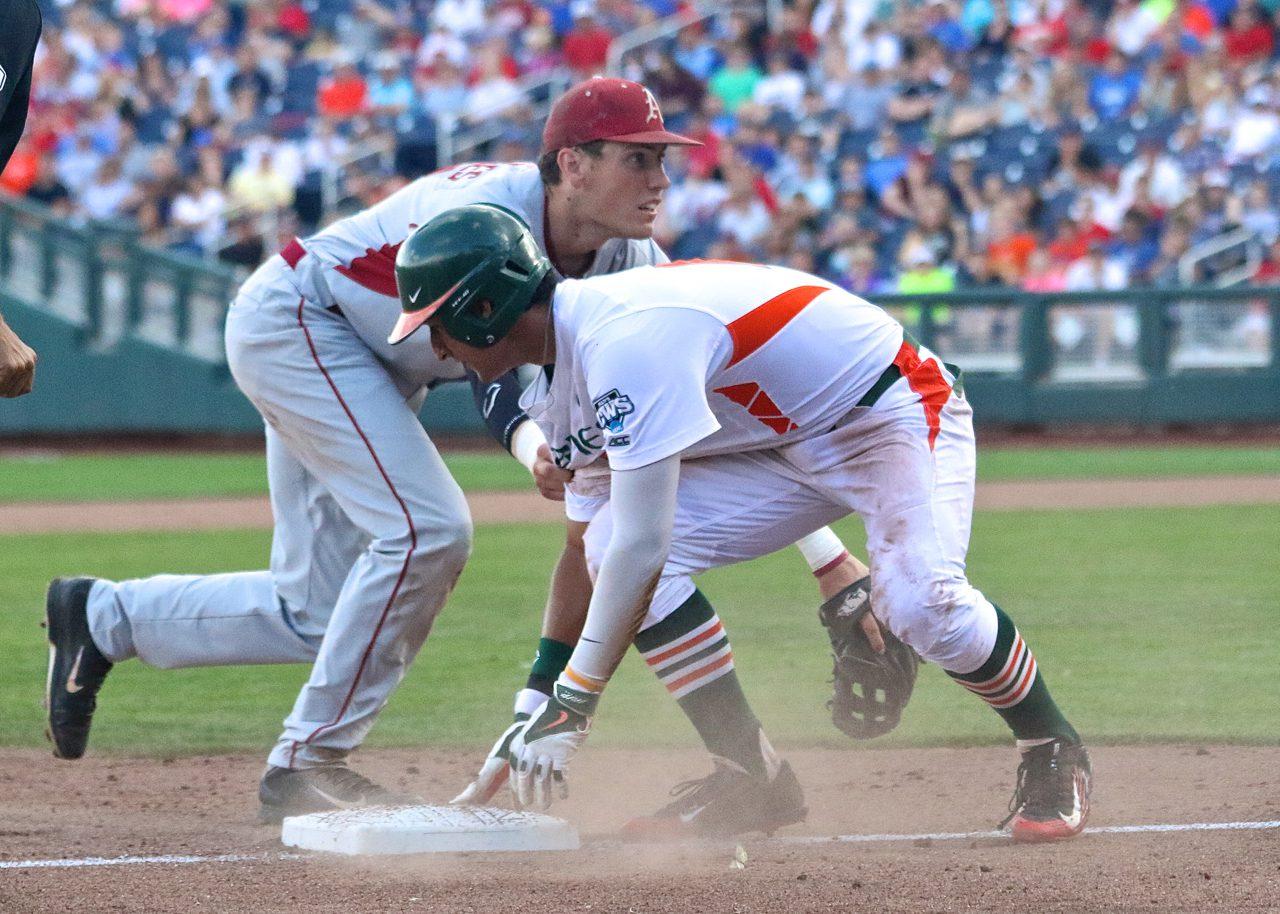 College World Series: Arkansas-Miami - Bobby Wernes, Christopher Barr