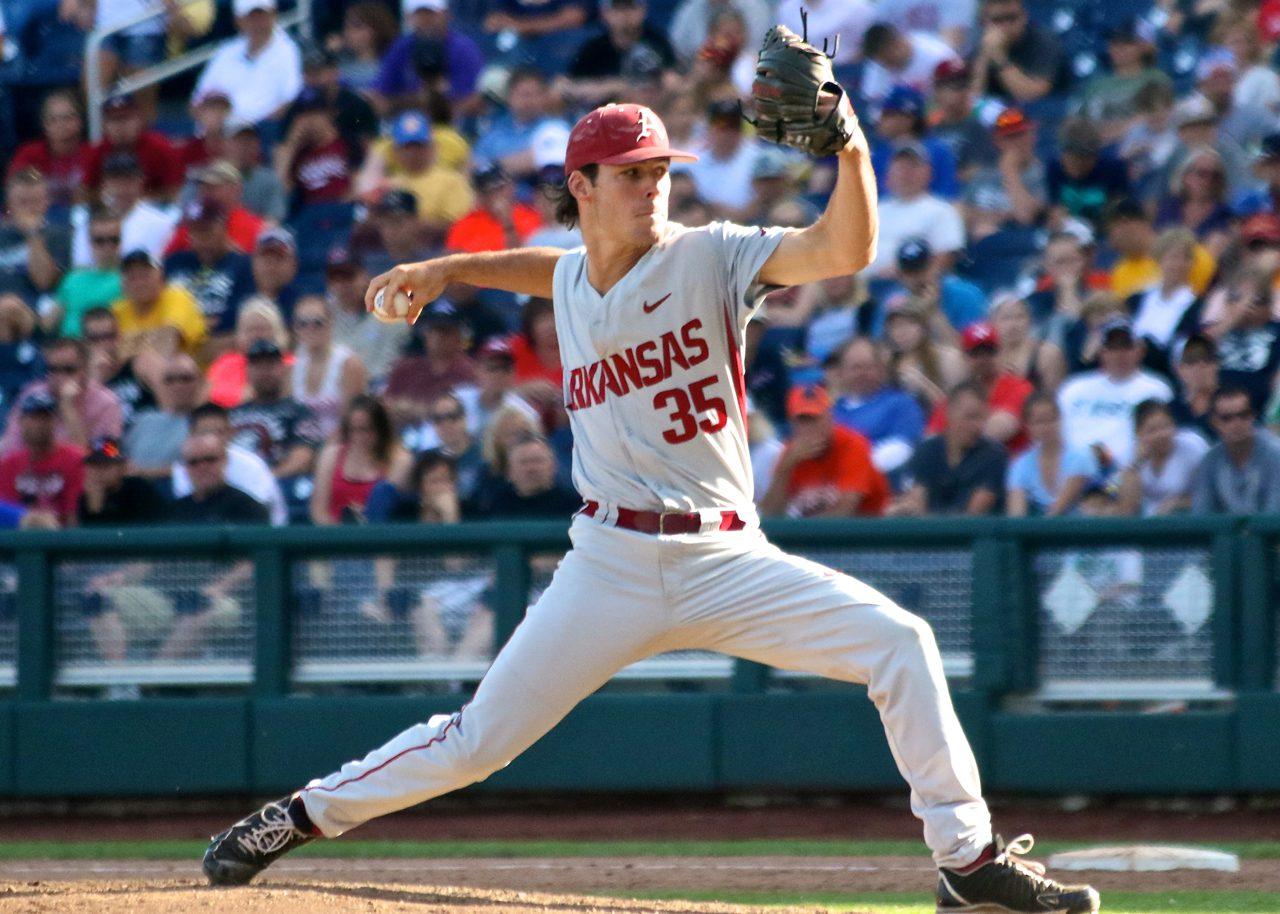 College World Series: Arkansas-Miami - Jackson Lowery