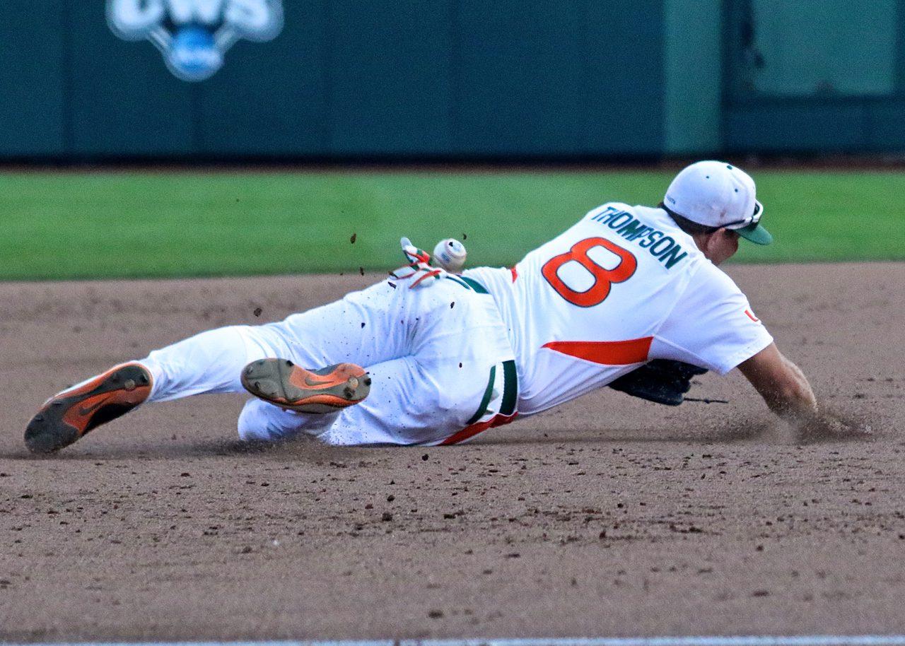 College World Series: Arkansas-Miami - David Thompson