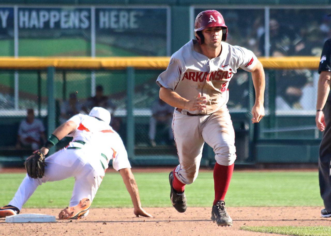 College World Series: Arkansas-Miami - Tyler Spoon