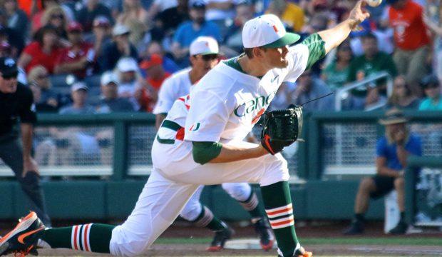 College World Series: Arkansas-Miami - Thomas Woodrey