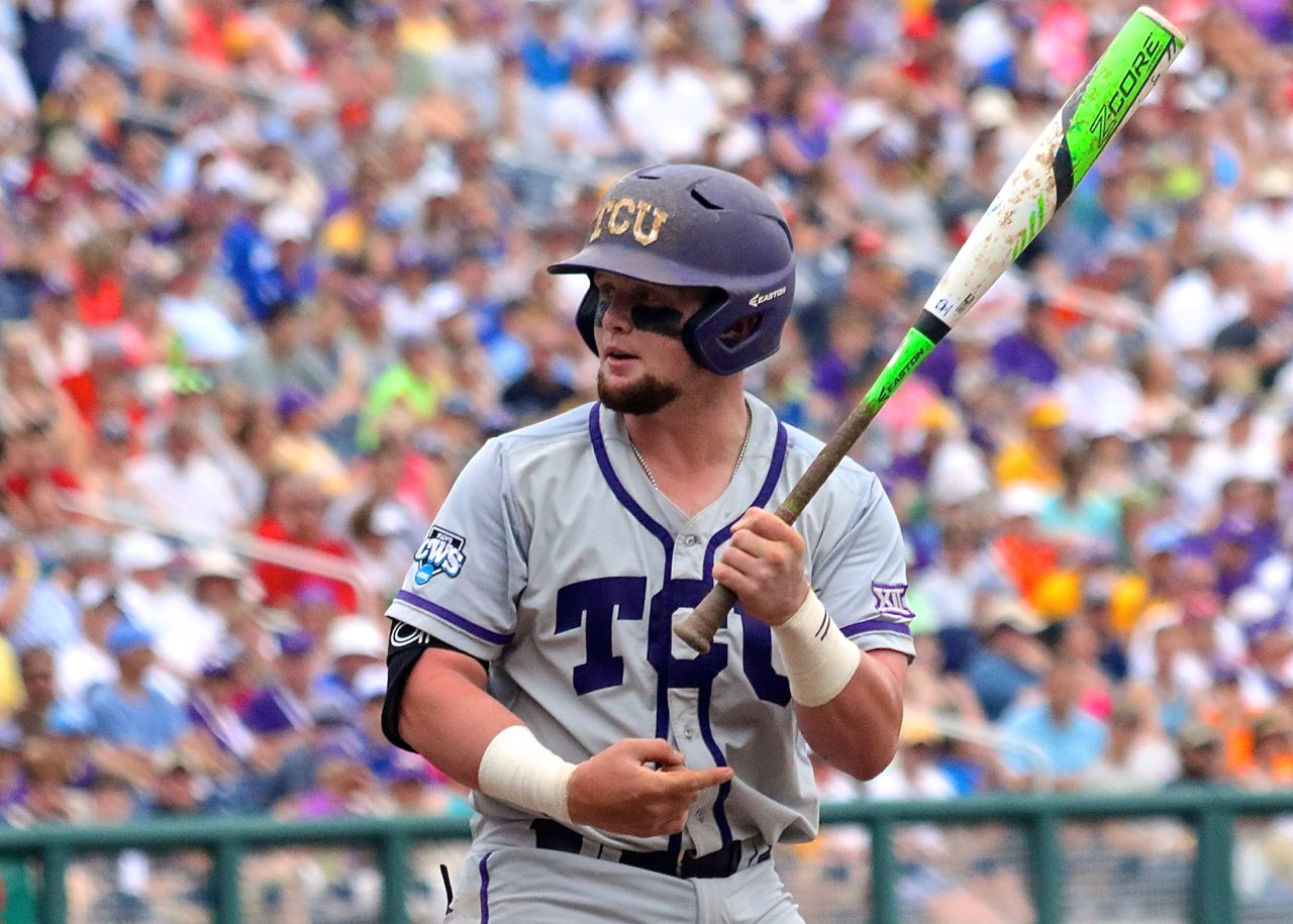 College World Series: TCU-LSU - Evan Skoug