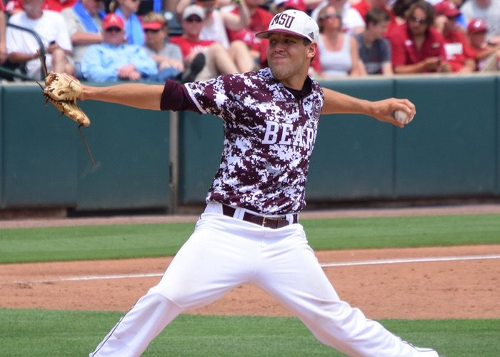 Missouri State lefthander Matt Hall (Aaron Fitt)