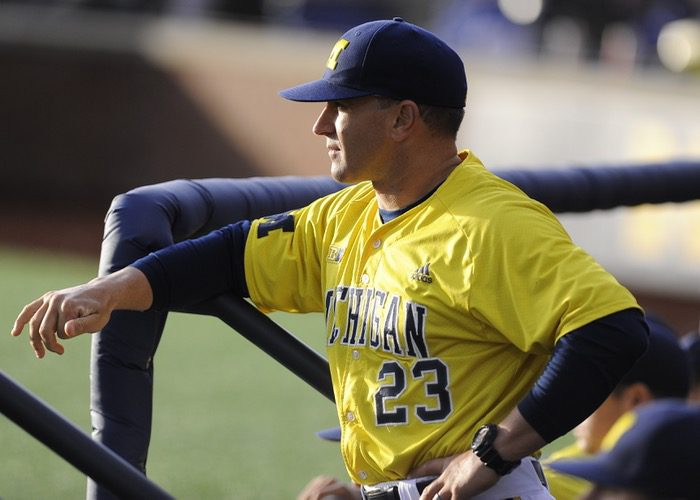 Michigan coach Erik Bakich is very pleased with where his Wolverines are right now. (Michigan)