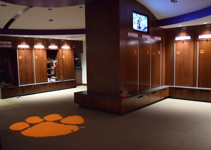 Clemsons Spacious New Locker Room Aaron Fitt