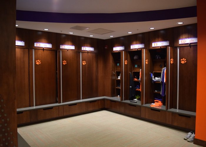 Clemsons New Locker Room Aaron Fitt