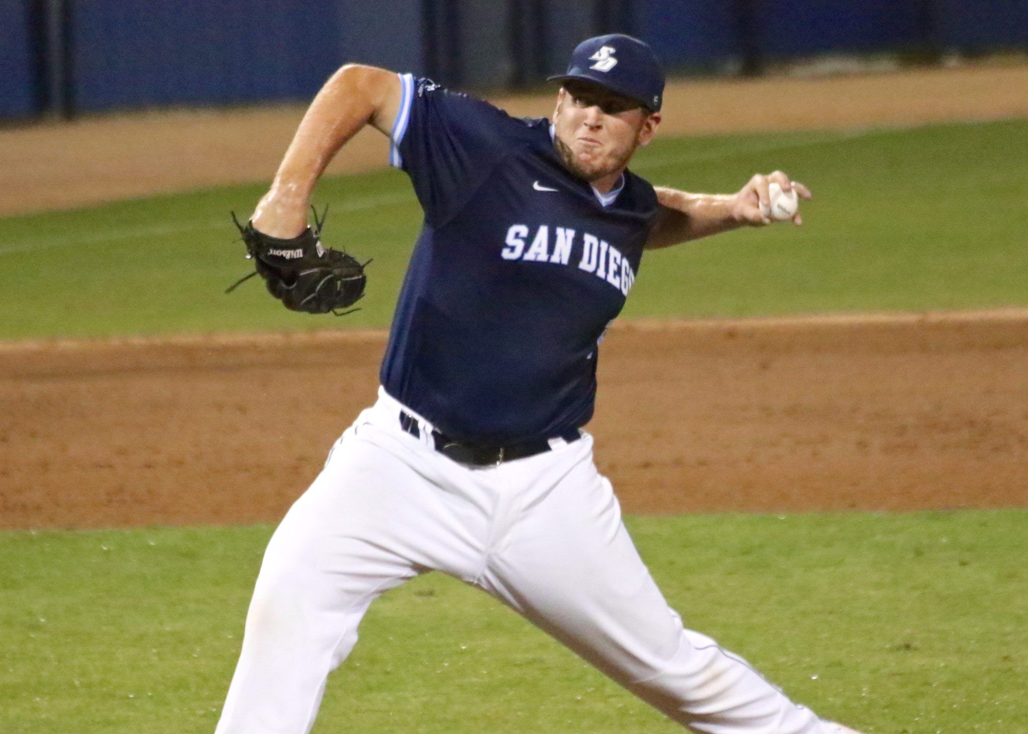 San Diego starter Troy Conyers pitched five scoreless frames. (Shotgun Spratling)