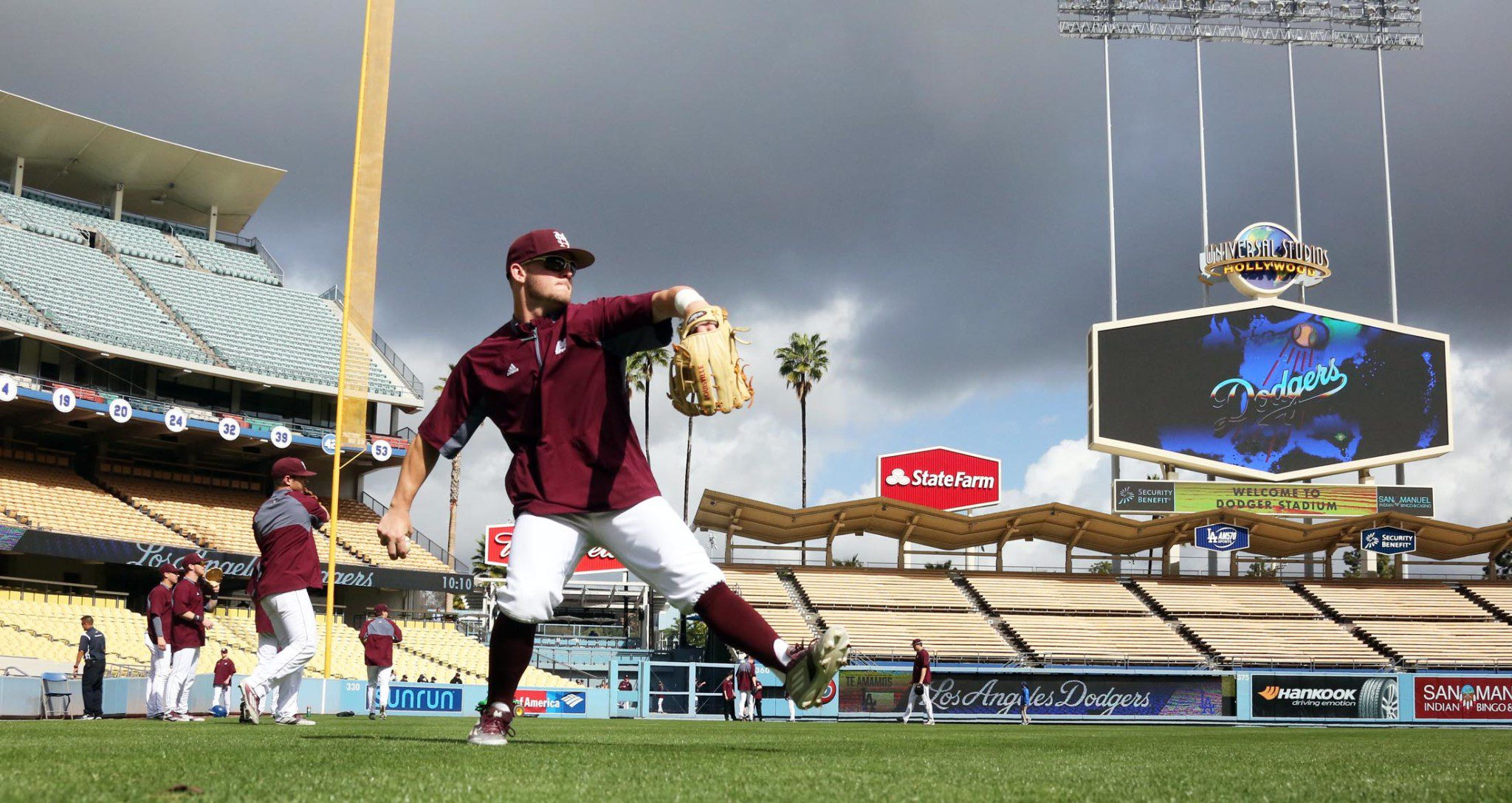No real reason to use this picture again from Mississippi State at Dodger Stadium, I just like the pic.