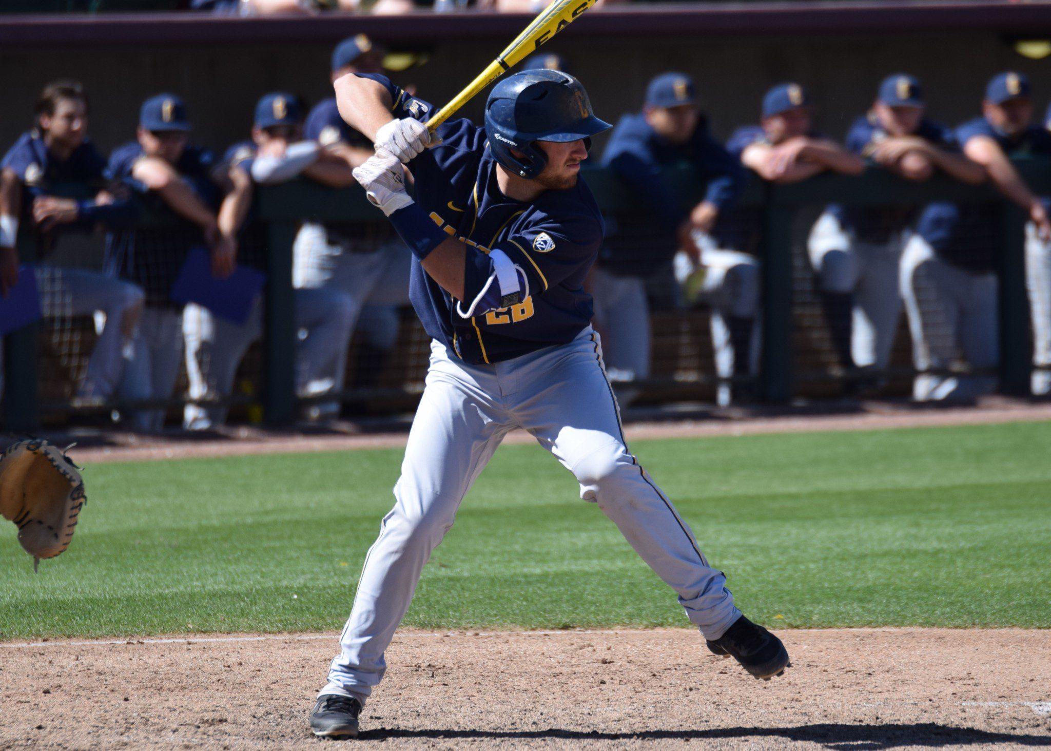 Cal catcher Brett Cumberland (Aaron Fitt)