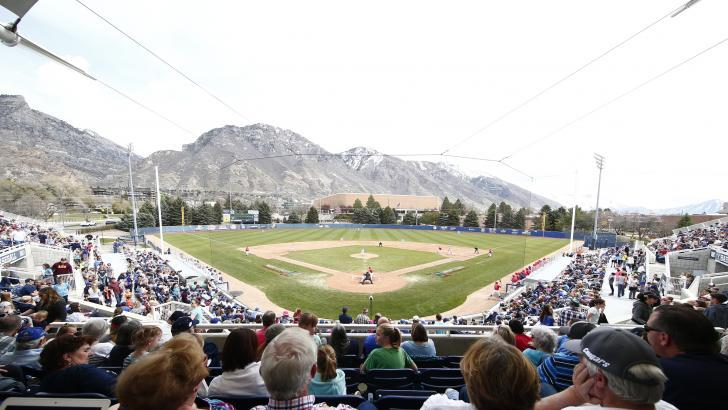 BYU has a picturesque setting at its home ballpark. (BYU)