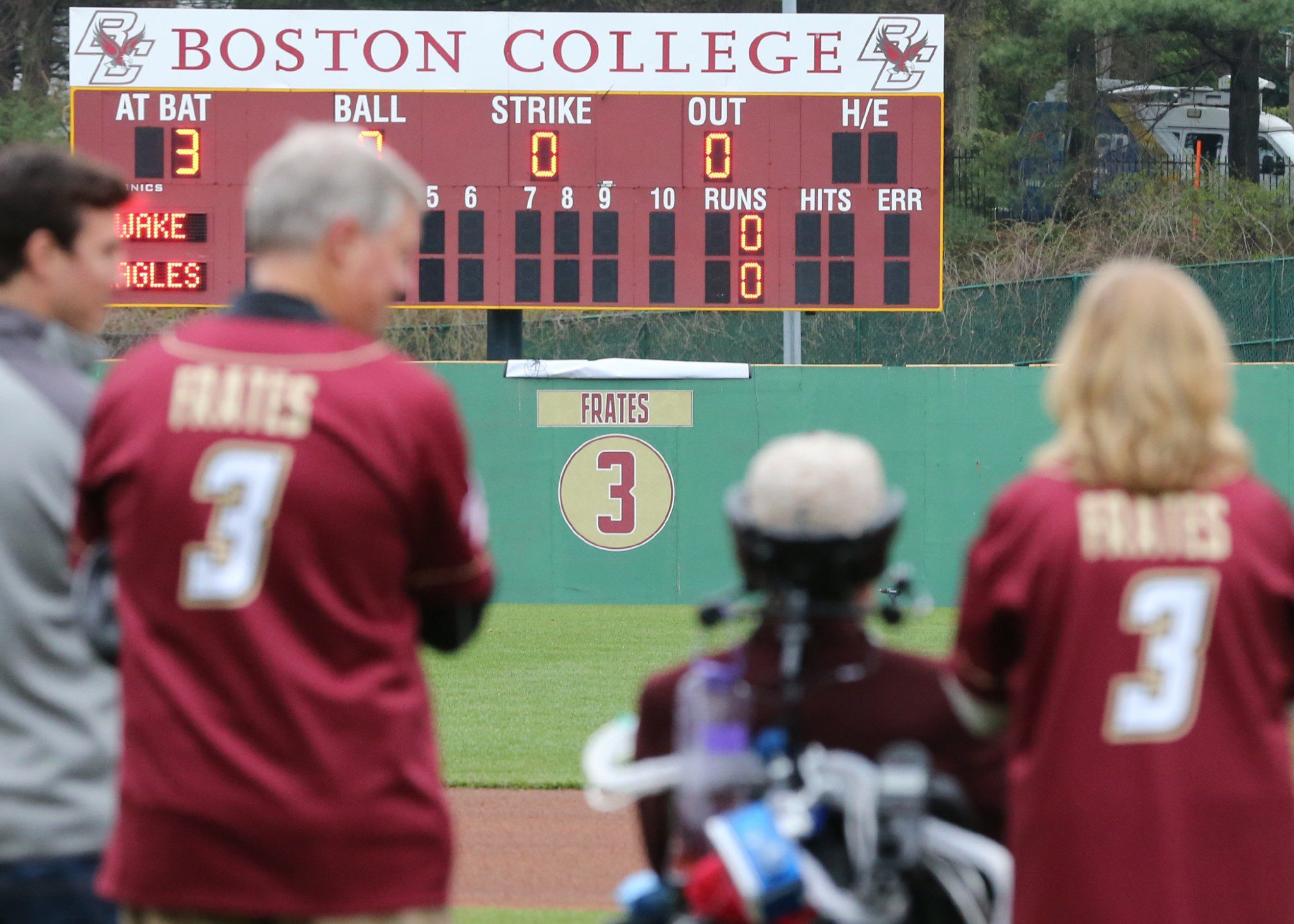 "John Frates called the reriting of Pete's number ""the pinnacle"" (John Quackenbos/BC Athletics)"