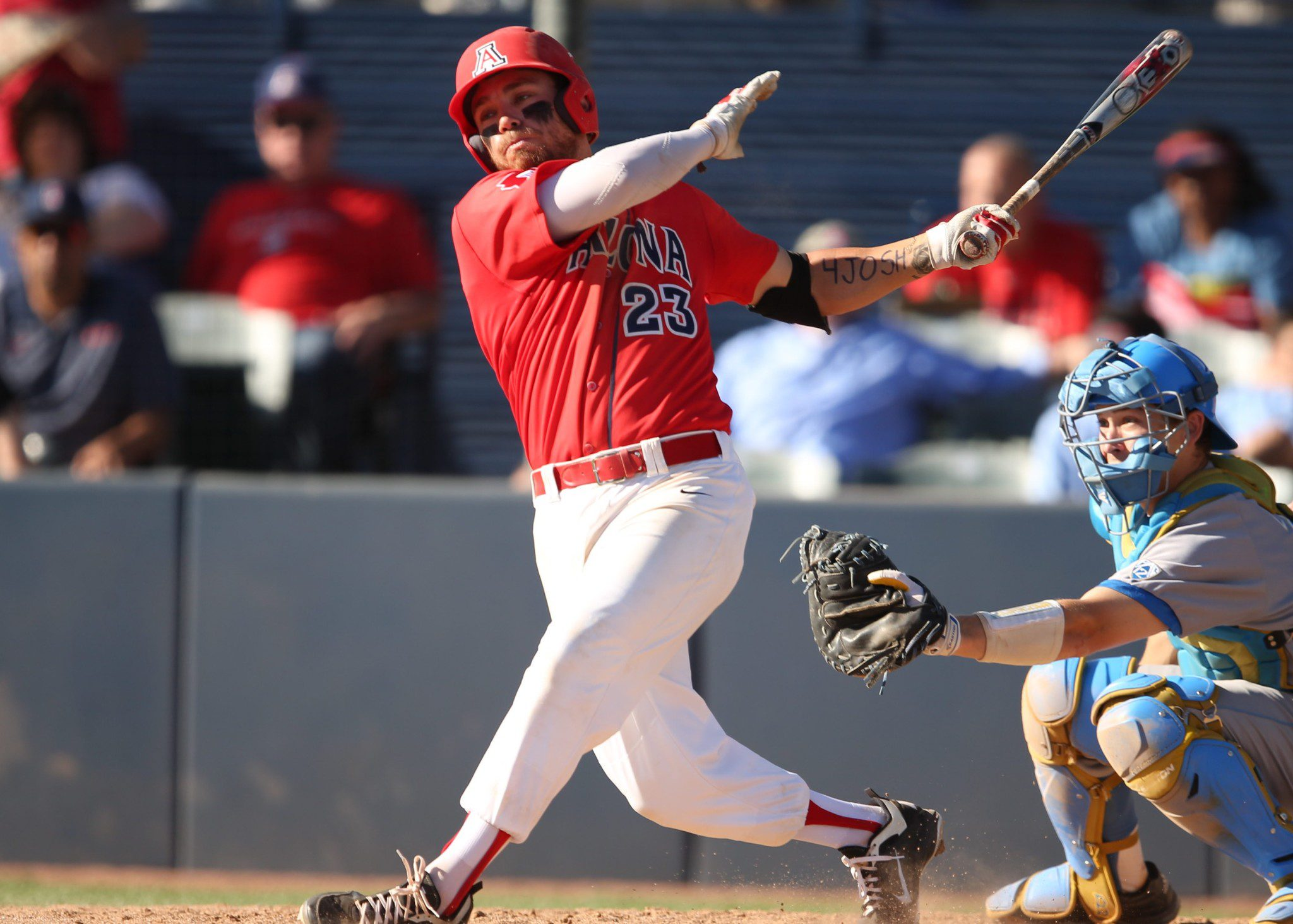 Arizona outfielder Zach Gibbons (Stan Liu/Arizona Athletics)