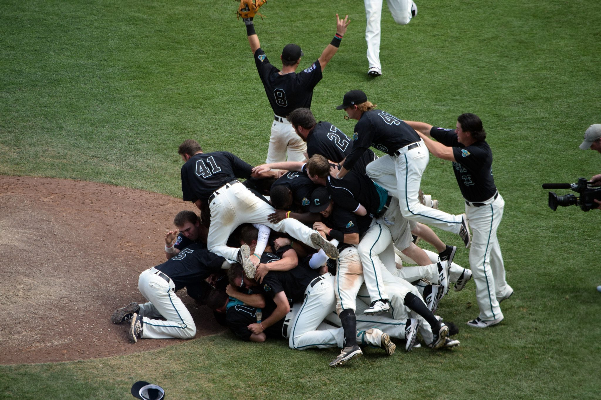 Coastal Carolina finished off a memorable run in Omaha. (Kendall Rogers)