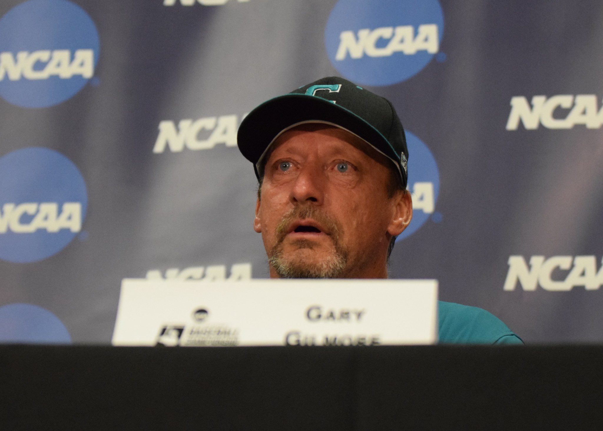 Gary Gilmore's eyes got watery as Anthony Marks talked about the team's mission to get him to Omaha (Aaron Fitt)