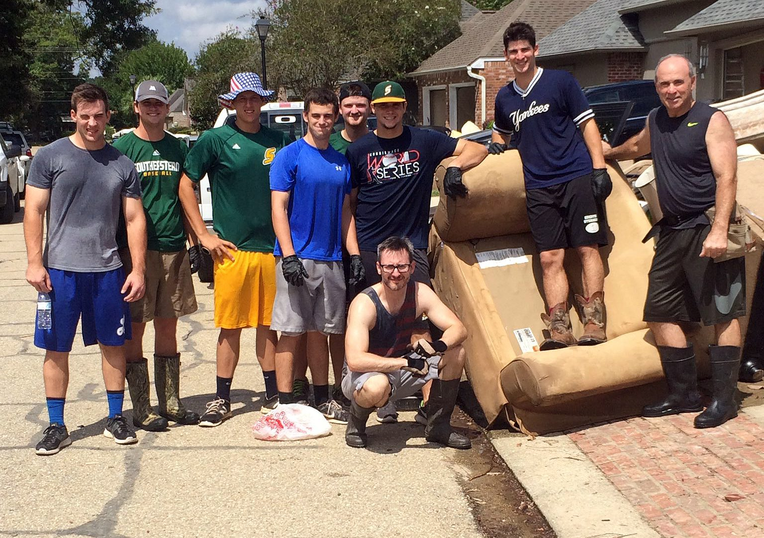 Southeastern Louisiana helped the Central, La., community clean up.