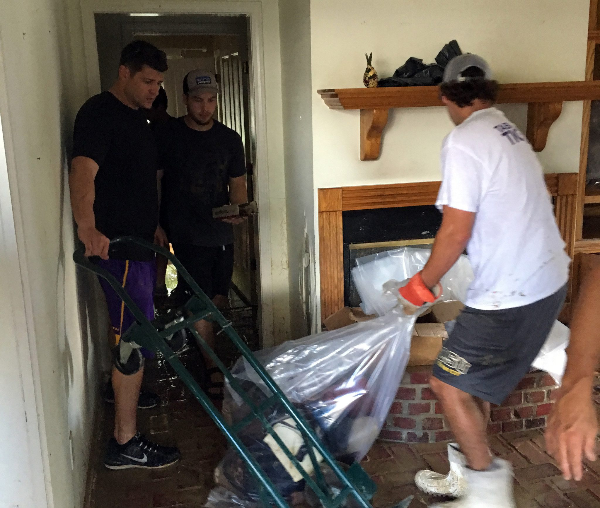 LSU helped clean up the house of Ben McDonald's mother-in-law. (LSU)