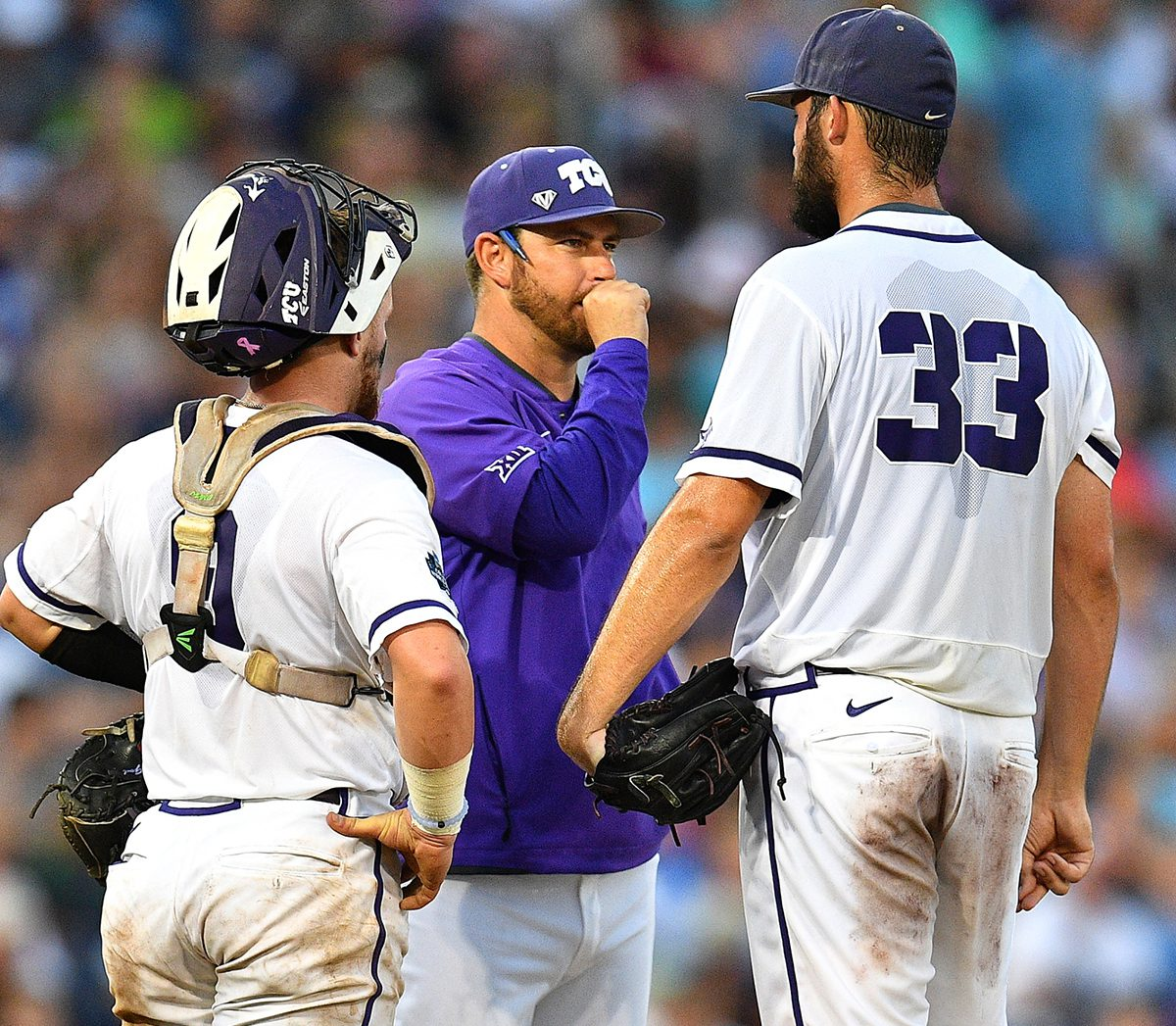 Kirk Saarloos seems to be push all the right buttons with his pitchers. (TCU)