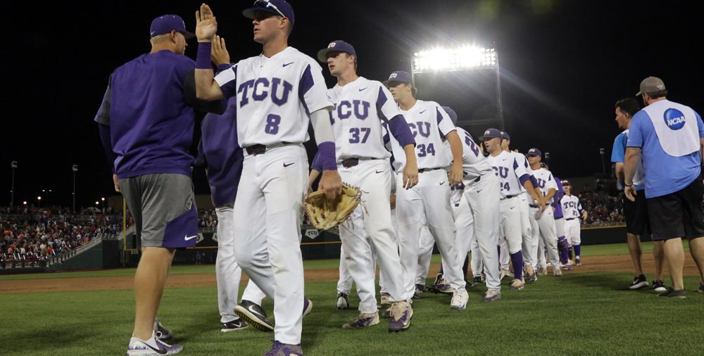 TCU's Wymer stymies Louisville in 4-3 CWS win; Florida next