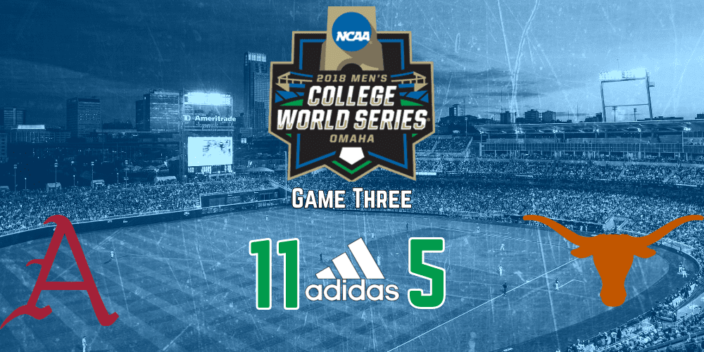 Arkansas hammers Texas in College World Series