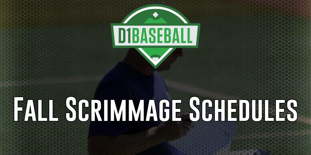 2018 Fall Exhibition Schedule • D1Baseball