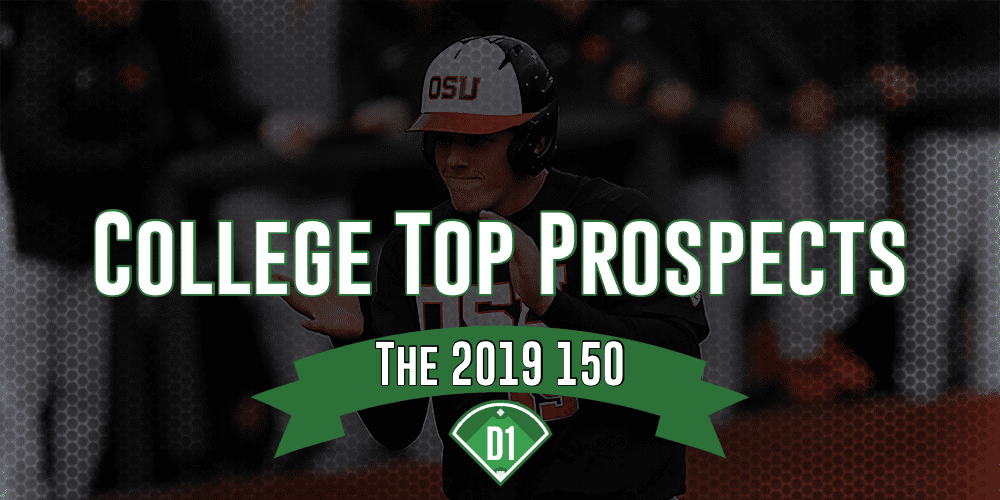 2019 College Top 150 Prospects: 1 0 • D1Baseball