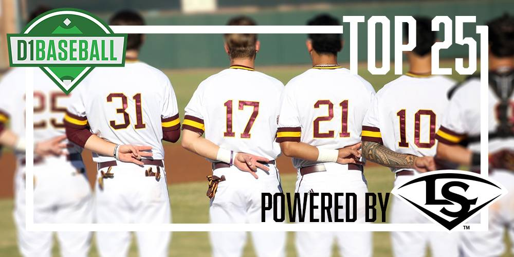 Arizona State remained undefeated and returned to the D1Baseball Top 25