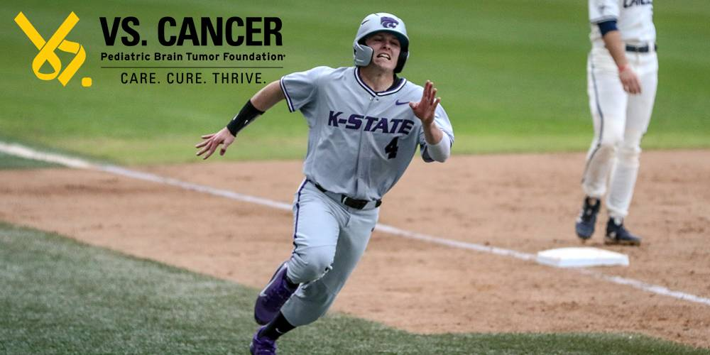 Blake Burrows and Kansas State have run to the front of the pack in the Vs. Cancer college baseball fundraising rankings