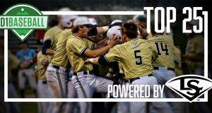 Georgia Tech moves into the April 8 D1Baseball College Top 25, powered by Louisville Slugger
