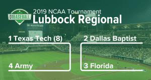 2019 Lubbock Regional: Texas Tech, Dallas Baptist, Florida, Army