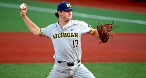 Jeff Criswell Pitching for Michigan Baseball