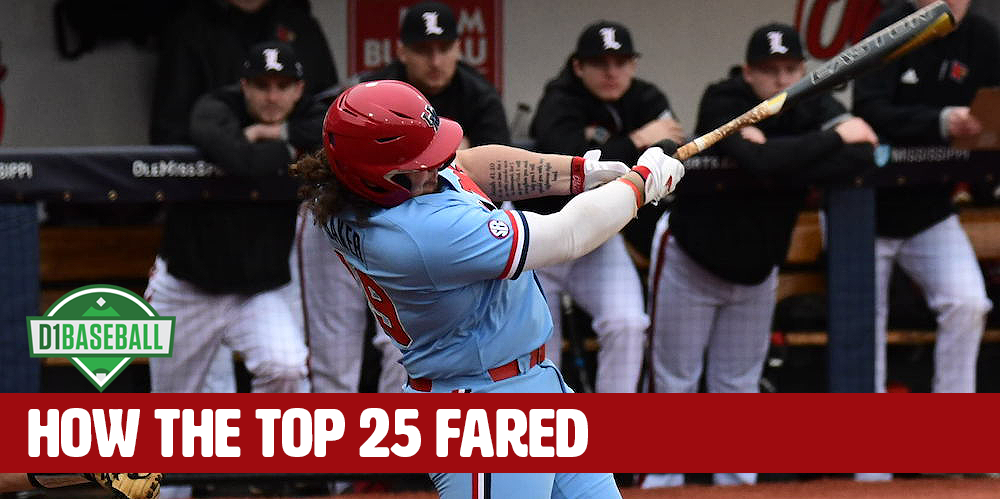 How The Top 25 Fared: Opening Weekend • D1Baseball