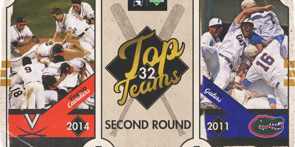 2014 Virginia vs 2011 Florida - Top Teams 2nd Round Graphic