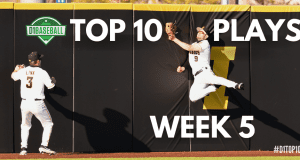 Top 10 Plays Week 5 - Ben Normal Making a Catch for Iowa Baseball