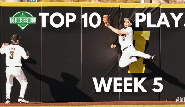 Top 10 Plays Week 5 - Ben Normal Making a Catch for Iowa Baseball